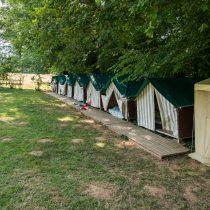 Les tentes des l'espace camping